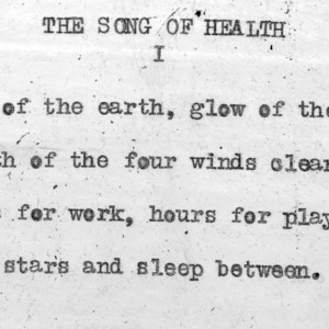 """The Song Of Health"" part 1 - 4-H Club song lyrics"