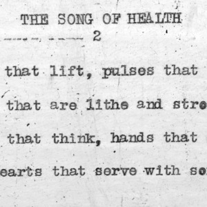 """The Song Of Health"" part 2 - 4-H Club song lyrics"
