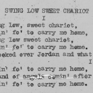 """Swing Low Sweet Chariot"" part 1 - 4-H Club song lyrics"