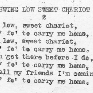 """Swing Low Sweet Chariot"" part  2 - 4-H Club song lyrics"