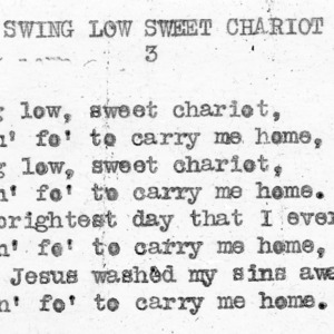 """Swing Low Sweet Chariot"" part 3 - 4-H Club song lyrics"