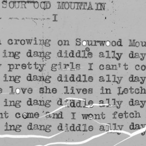 """Sourwood Mountain"" part 1 - 4-H Club song lyrics"