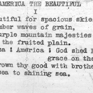 """America The Beautiful"" part 1 - 4-H Club song lyrics"