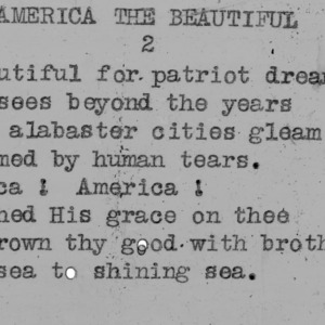 """America The Beautiful"" part 2 - 4-H Club song lyrics"