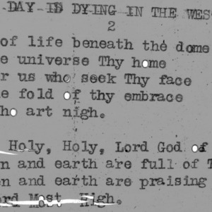 "4-H Club song slides : ""Day Is Dying In The West"""