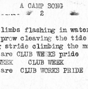 "4-H Club song slides : ""A Camp Song"""