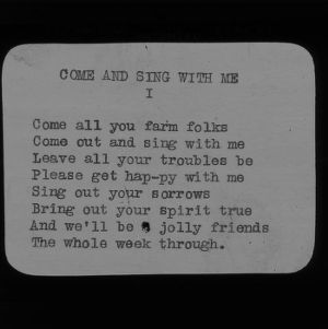 "4-H Club song slides : ""Come And Sing With Me"""