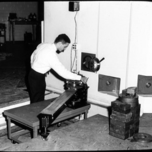 Man with Reactor parts