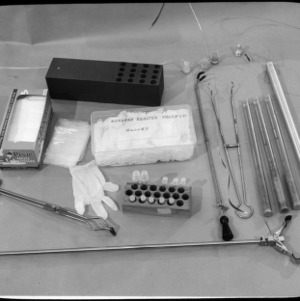 Nuclear Reactor equipment: gloves and instruments