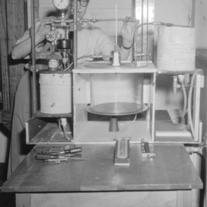 Experiment of decomposition of nickel carbonyl in Daniels Hall