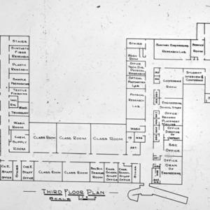 Riddick Laboratories 3rd floor diagram