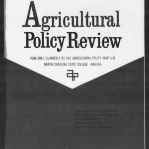 Agricultural Policy Review Vol. 1 No. 4