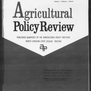Agricultural Policy Review Vol. 2 No. 1