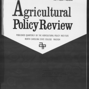 Agricultural Policy Review Vol. 2 No. 3