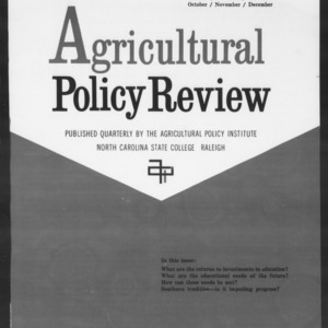 Agricultural Policy Review Vol. 2 No. 4