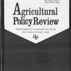 Agricultural Policy Review Vol. 3 No. 1