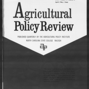 Agricultural Policy Review Vol. 3 No. 2