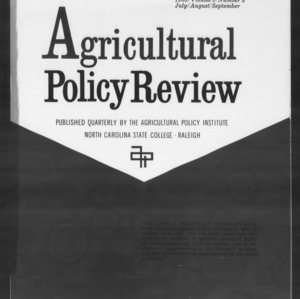 Agricultural Policy Review Vol. 3 No. 3