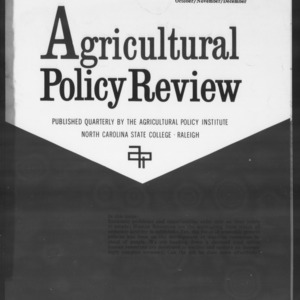 Agricultural Policy Review Vol. 3 No. 4
