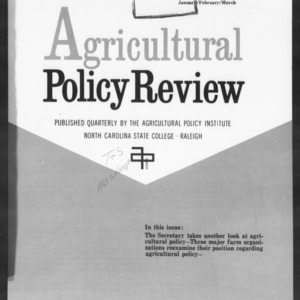 Agricultural Policy Review Vol. 4 No. 1
