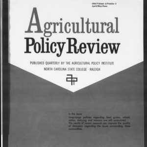 Agricultural Policy Review Vol. 4 No. 2