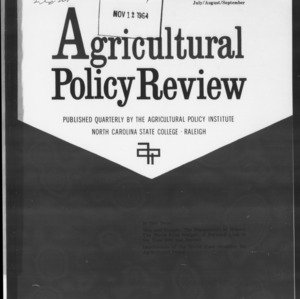 Agricultural Policy Review Vol. 4 No. 3