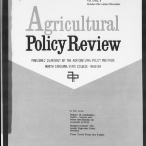 Agricultural Policy Review Vol. 4 No. 4