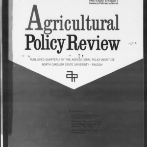Agricultural Policy Review Vol. 5 No. 1