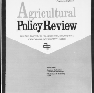 Agricultural Policy Review Vol. 5 No. 3