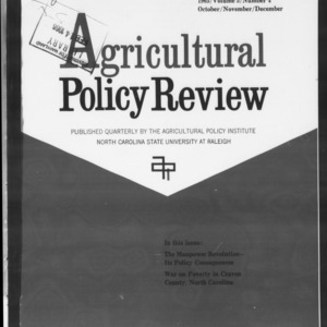 Agricultural Policy Review Vol. 5 No. 4