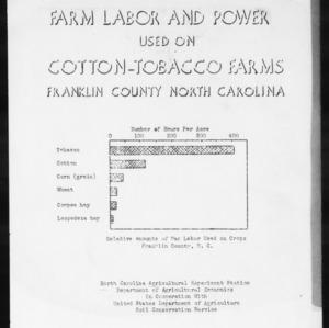 Farm Labor and Power Used on Cotton-Tobacco Farms, Franklin County, North Carolina (AE Information Series No. 10)