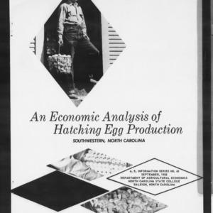 An Economic Analysis of Hatching Egg Production, Southwestern North Carolina (AE Information Series No. 45)