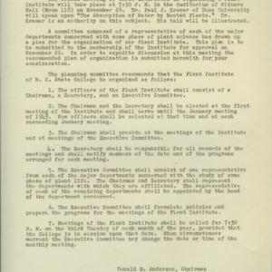 Plant Institute records, 1941-1942