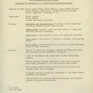 Department of Agronomy memoranda and correspondence, 1941-1951