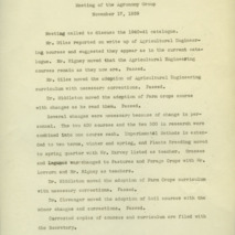 Department of Agronomy meeting minutes, 1939-1942