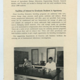 Pamphlets for Department of Agronomy graduate programs, 1953-1955