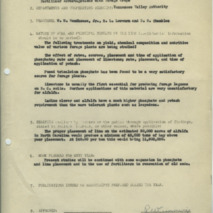Department of Agronomy records for projects with the Tennessee Valley Authority, 1934-1960
