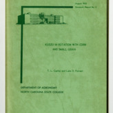 Kudzu in Rotation with Corn and Small Grain by T. L. Copley and Luke A. Forrest, 1953