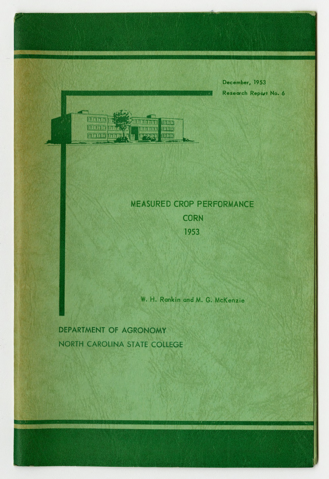 Measured Crop Performance : Corn by W. H. Rankin and M. G. McKenzie, 1953