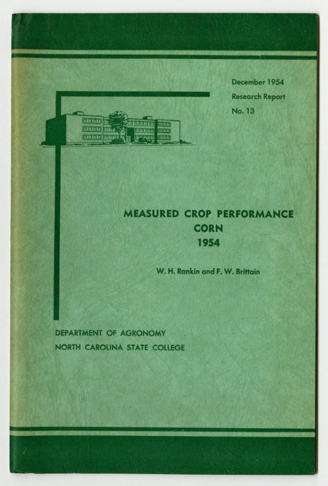 Measured Crop Performance : Corn by W. H. Rankin and F. W. Brittain, 1954