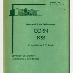 Measured Crop Performance : Corn by W. H. Rankin and F. W. Brittain, 1955
