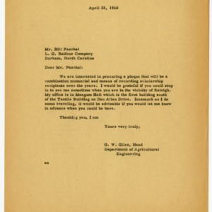 Department of Agricultural Engineering correspondence, 1960-1981