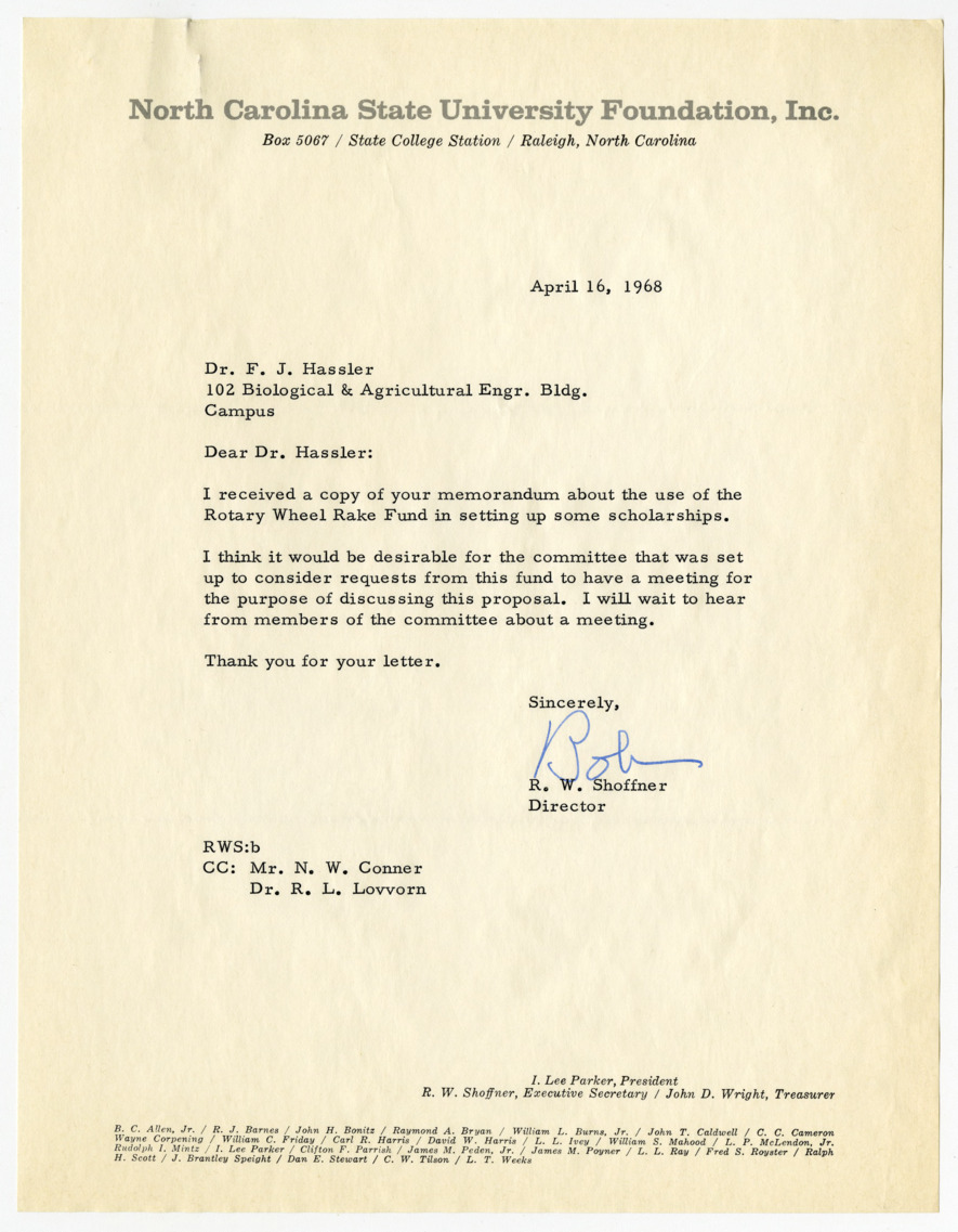 University patent committee correspondence and records, 1967-1980