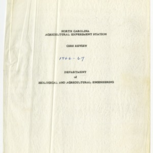 Cooperative State Research Service review records, 1966-1969