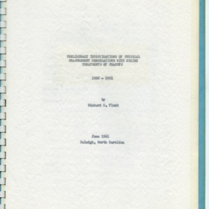 Agricultural engineering research records, 1961-1974