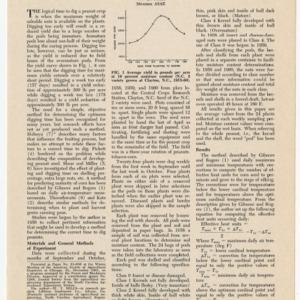 """Heat Unit System for Predicting Optimum Peanut-Harvesting Time,"" by W. T. Mills, 1964"