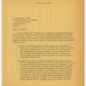 Tobacco research for agricultural machinery and facilities records, 1961-1965