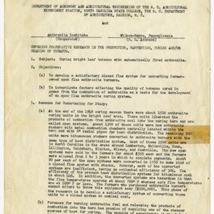 Anthracite Institute memorandums of understanding and records, 1950-1952