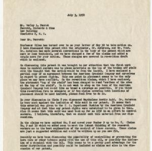 Records on sucker-application patent, 1947-1960