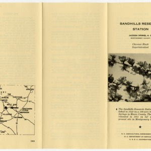 Brochure and Land Use Summary for Sandhills Research Station